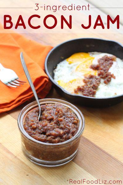 3-ingredient bacon jam - Real Food Liz #paleo #bacon #jam