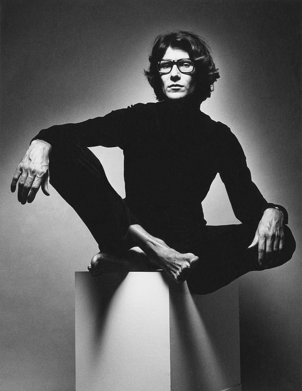 Yves Saint Laurent photographed by Jeanloup Sieff, 1971.