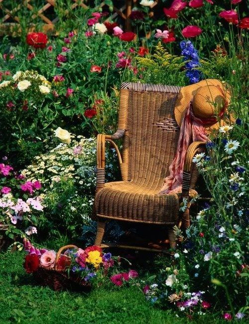 I just want to sit in this garden chair and read my book and soak up natures everything