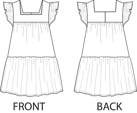 Juliana Girls Dress pattern PDF Childrens by MyChildhoodTreasures