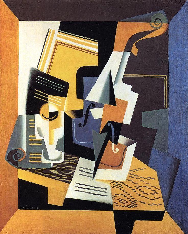 Violin and Glass, 1918, Juan Gris
