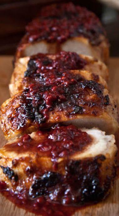pork tenderloin with cranberry sauce