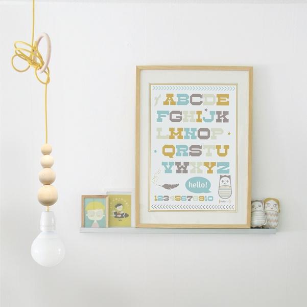 Hanglamp WoodBubbles 3meter wit textielkabel van indie-ish via DaWanda