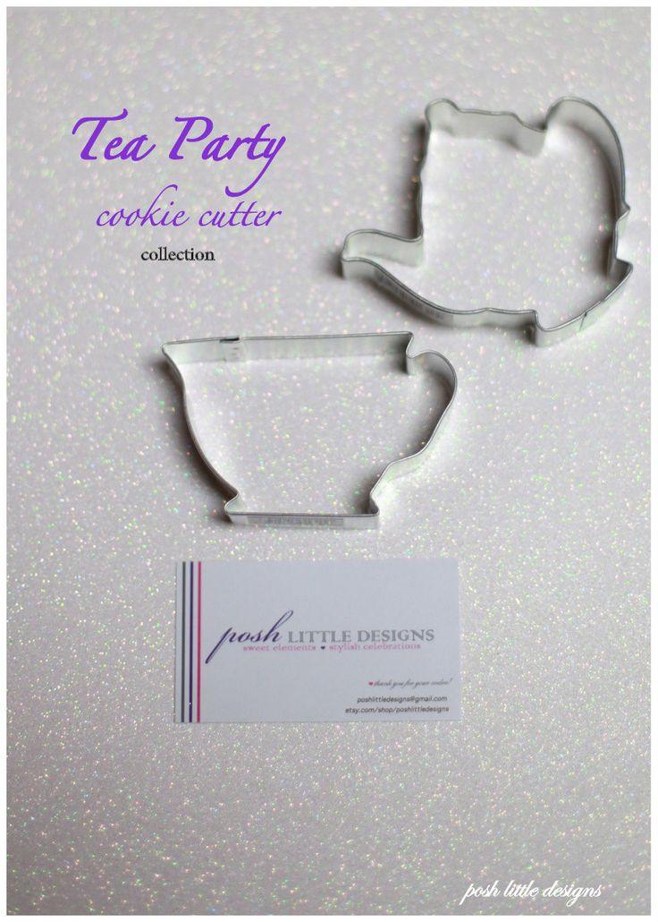 Tea Party Cookie Cutter Collection Set - 2 piece. $3.85, via Etsy.