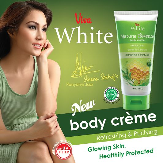 Natural Defense Body Creme UV Filter - Refreshing and Purifying your skin with Triple Combination Honey, Lime & Green Tea Extract. http://www.vivacosmetic.com/product/det/580/natural-defense-body-creme.html