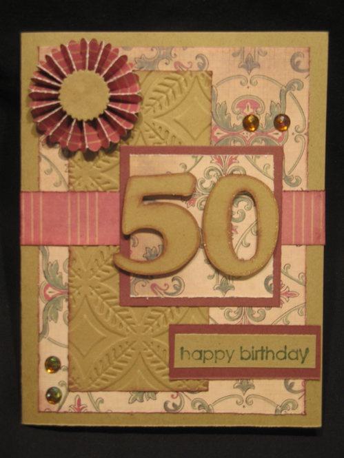 Card: 50th bday