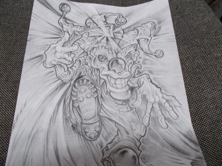 Clowns Tattoo Drawings Razor clown tattoo design by