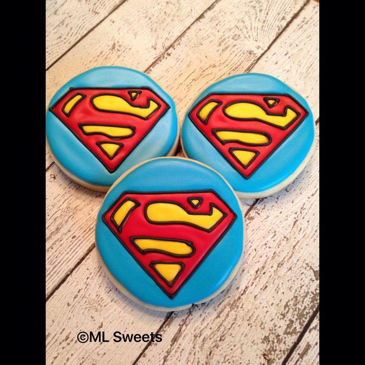 Best 20+ Superman Cookies Ideas On Pinterest