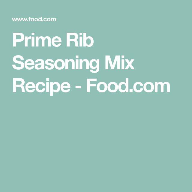 Prime Rib Seasoning Mix Recipe - Food.com