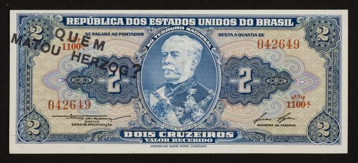 Cildo Meireles, 'Insertions into Ideological Circuits 2: Banknote Project' 1970