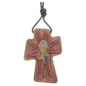 Cruz madera olivo relieve 5 cm | venta online en HOLYART