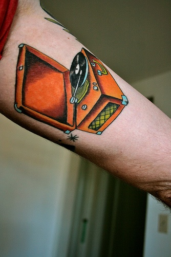 Record Player Tattoo The Best The Only The Original