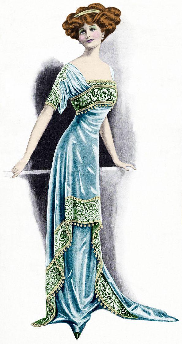 1900s Fashion Plate ~ LÁMINAS VINTAGE,ANTIGUAS,RETRO Y POR EL ESTILO.... (pág. 161) | Aprender manualidades es facilisimo.com