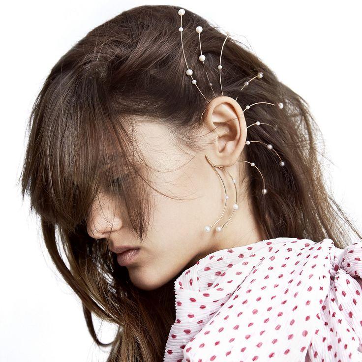 9CT PEARL ELECTRO EARRINGS