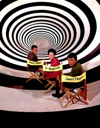 """The Time Tunnel"" (TV show) -- Robert Colbert, Lee Meriwether, and James Darren"