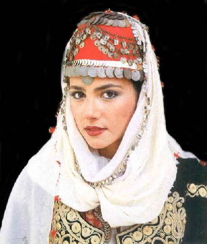 Turkish Kutahya bridal headdress