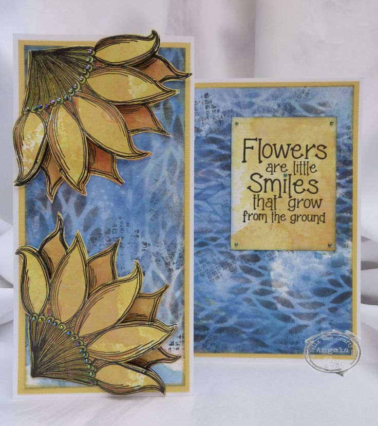 Card inspired by Van Gogh using Paper Artsy stamps and Tim Holtz stencil.
