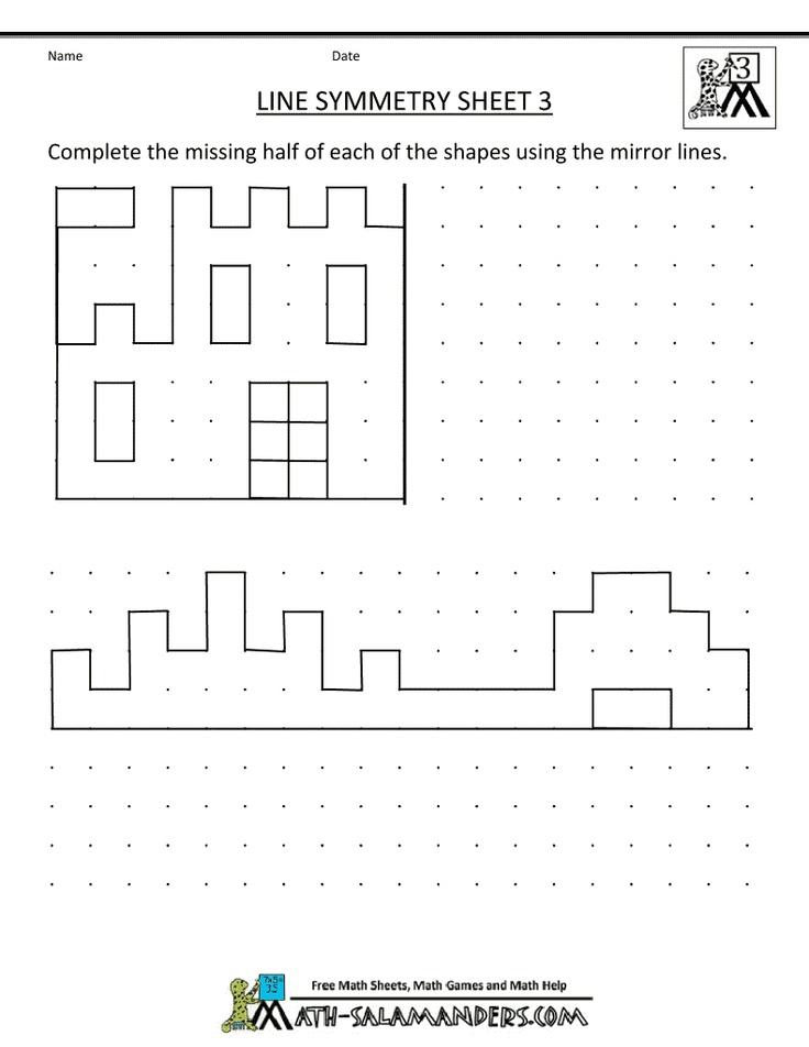 Symmetry Worksheets