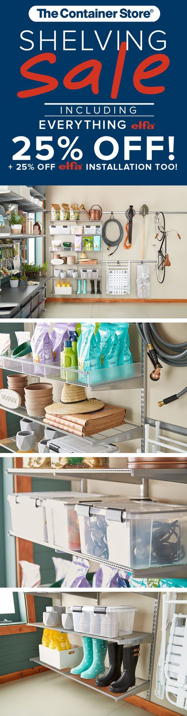 Garage garage organization via a bowl full of lemons the white bins - You Ll Be Floored By How Much Space You Can Save When Your Garage Is