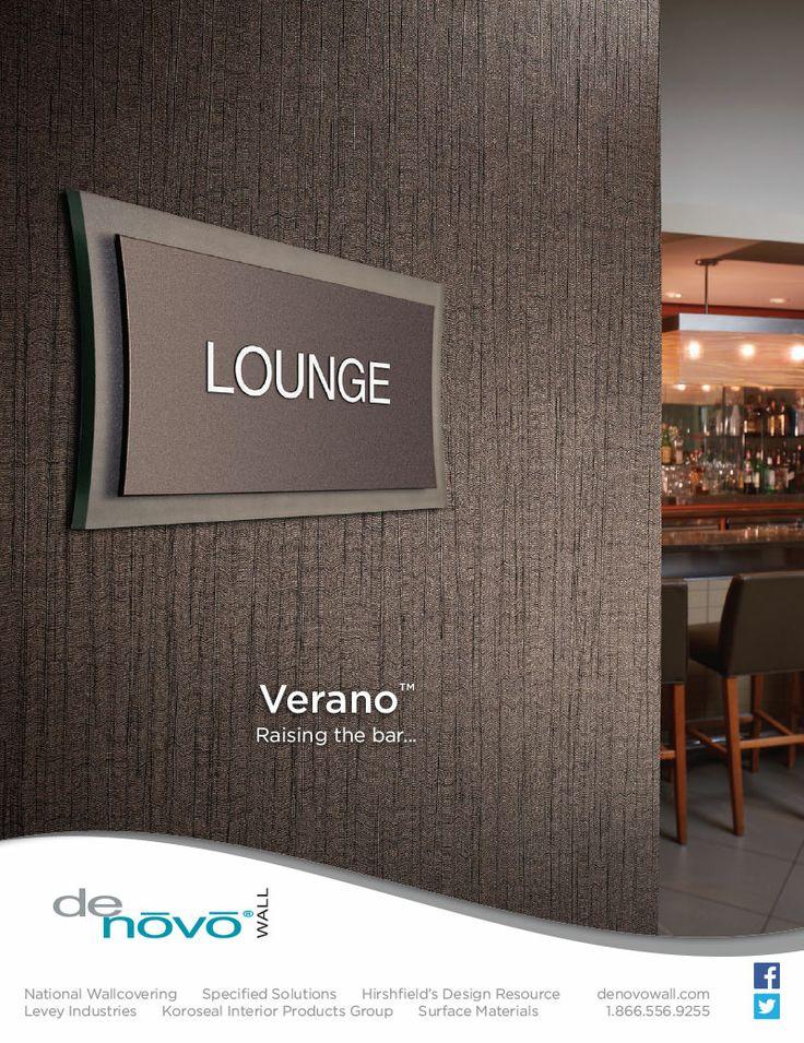 DeNovo Walls VeranoTM Commercial Wallcovering Advertisement In The Interior Design Magazine Spring Market Tabloid