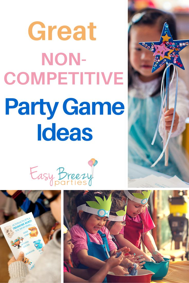 Great ideas for when you don't want to play competitive party games. Useful for autism-friendly parties. Lots of fun party activity ideas. Read it at http://www.easybreezyparties.com.au/party-inspiration-and-ideas/item/130-non-competitive-party-game-ideas.html #easybreezyparties