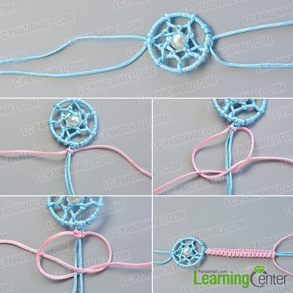 How to Make Simple Friendship Bracelet Decorated with Dream Catcher for Girls- Pandahall.com