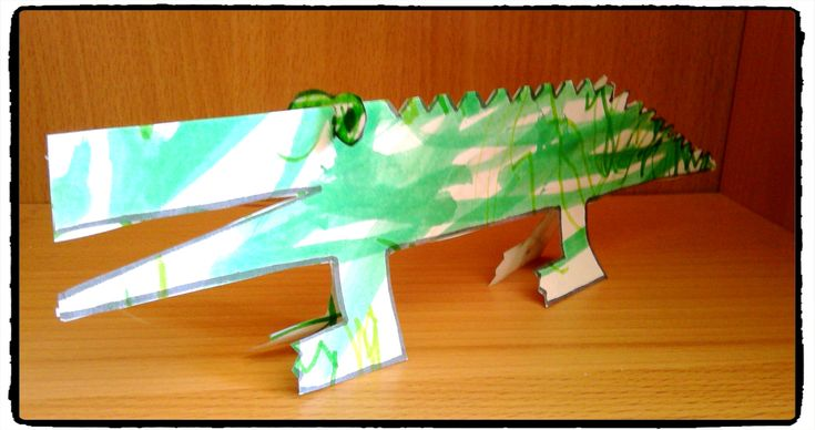 crococile 3d, animaux, bricolage, afrique, enfant, savane