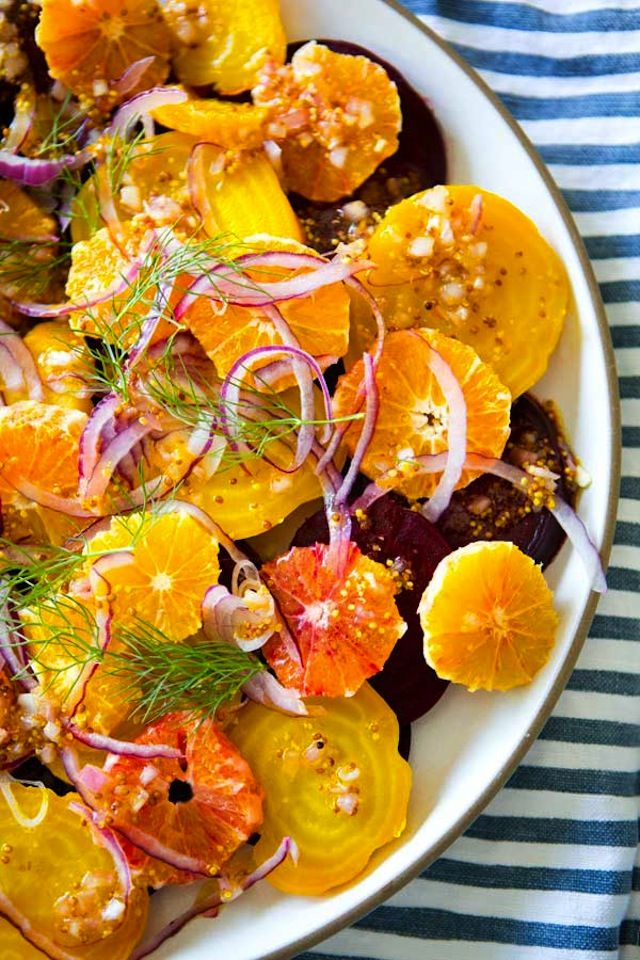 This colorful beet and blood orange salad is refreshing and yummy!