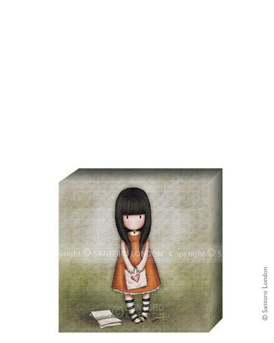 Gorjuss Canvas - I Gave You My Heart (20x20cm) - Santoro London