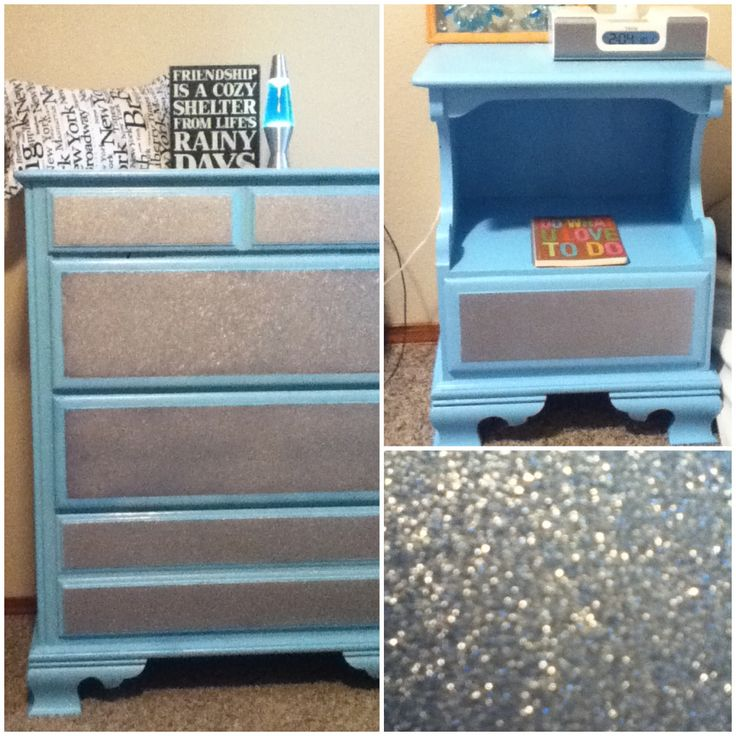 Made a glitter drawer dresser out of an old dresser! Diy
