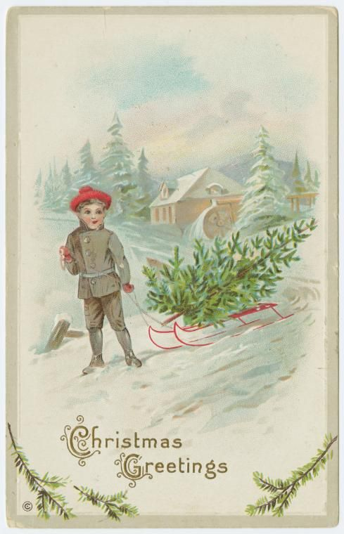 .Vintage Postcards, Christmas Cards, Fashion Christmas, Vintage Christmas, Postcards Art, Vintage Illustration, Christmas Greetings, Christmas Image, Vintage Cards