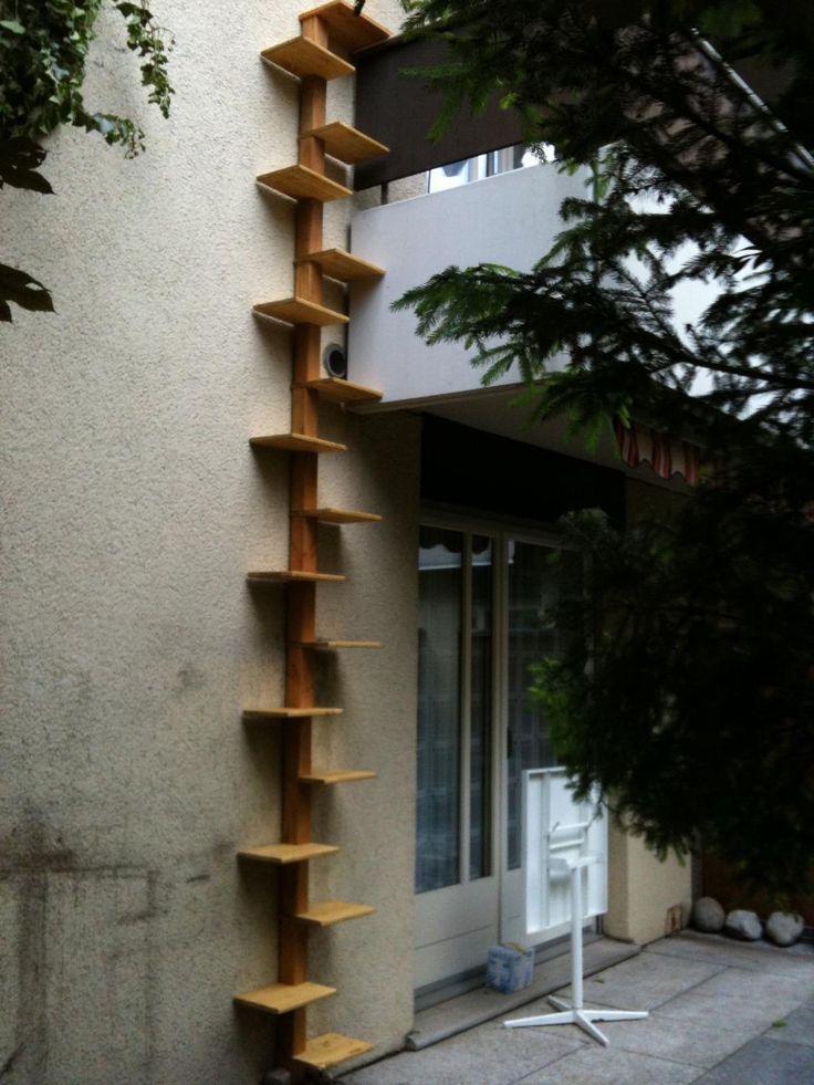 die besten 25 katzentreppe balkon ideen auf pinterest. Black Bedroom Furniture Sets. Home Design Ideas