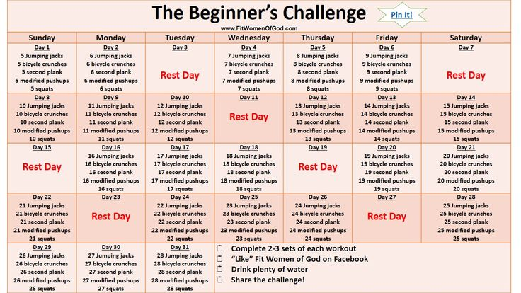 """The Beginner's Challenge ^^^(click underlinedtitle abovefor the pdf version)^^^ Don't wait until January to """"Get in Shape'! We still have the whole month of December to get moving! The Beginner..."""
