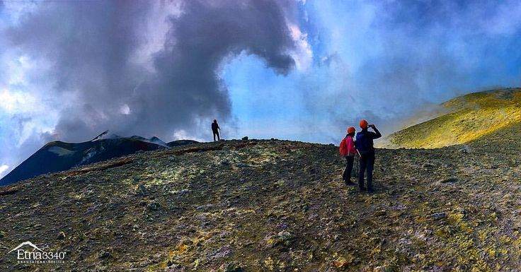 Hiking the summit of Mount Etna... 🌋