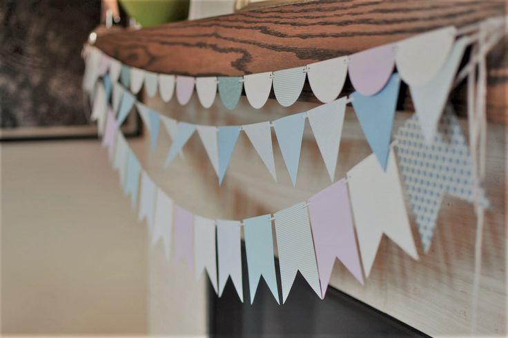 Custom paper garlands in Frozen theme colours. Perfect for parties, special occasions, and room décor. Quality cardstock in your choice of colours, patterns, shapes and sizes.