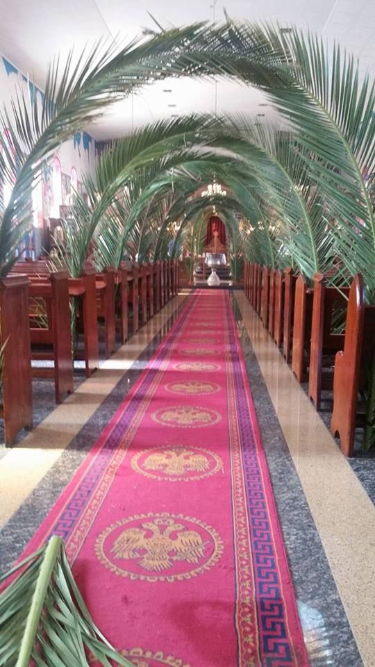 Annunciation Church in West Perth, Australia for Palm Sunday. From Orthodox Christian Network.