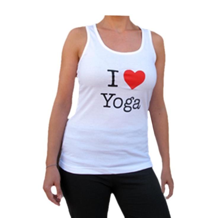 "Camiseta tirantes ""I love Yoga"""