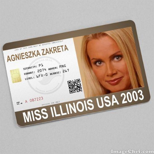 Agnieszka Zakreta Miss Illinois USA 2003 card