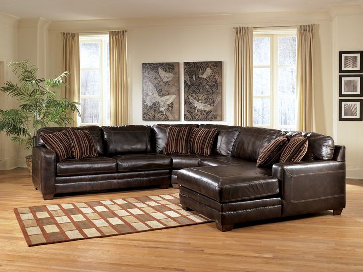 Cordoba Leather Sectional With Recliner And Chaise