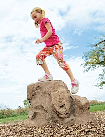 The Stepper™ Natural Climbing Stone for ages 2 to 5 by Landscape Structures Inc.