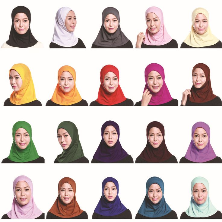 Muslim Hijab Inner Cap Scarf Women Muslim Hijabs Islamic Scarves Time-limited Limited Adult Plain None Formal Convenient Lady