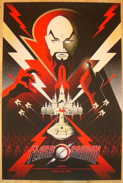 "Flash Gordon - silkscreen movie poster (click image for more detail) Artist: Bruce Yan Venue: n/a Location: n/a Date: 2012 Edition: 35; signed and numbered Size: 24"" x 36"" Condition: Mint Notes: this"