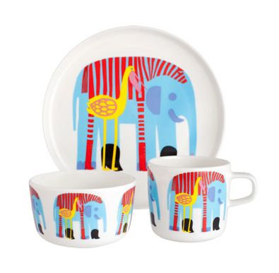 The kids' table is the place to be with Marimekko's fun, fancy dishes - Cool Mom Picks
