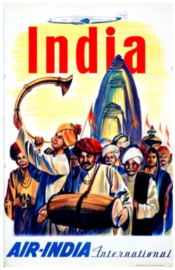 India - Vintage Air India Poster #india (wedding card ideas)