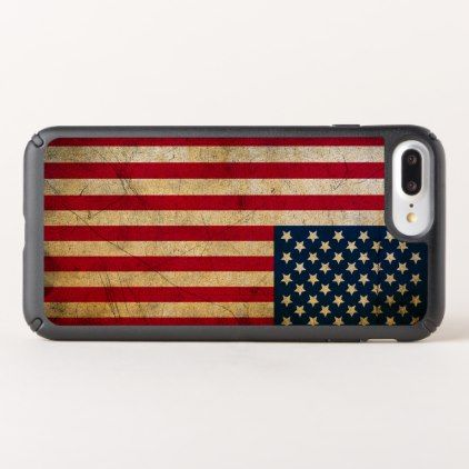 Vintage American Flag iPhone 8/7s/7/6s/6 Plus Case - vintage gifts retro ideas cyo