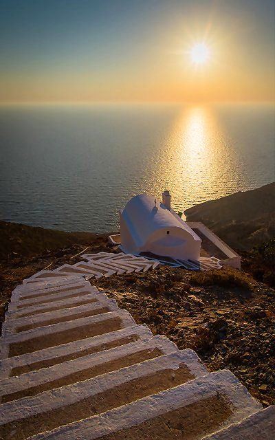 Chapel at sunset.. Olympos village, Karpathos Island, Greece | by Spiros Vathis