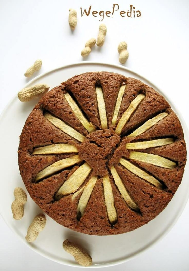 Proste ciasto orzechowe z jabłkiem - wegański przepis