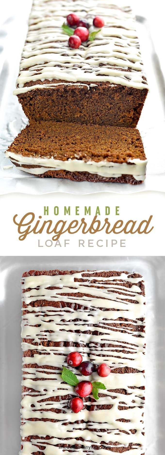 Homemade Gingerbread Loaf Recipe | shewearsmanyhats.com