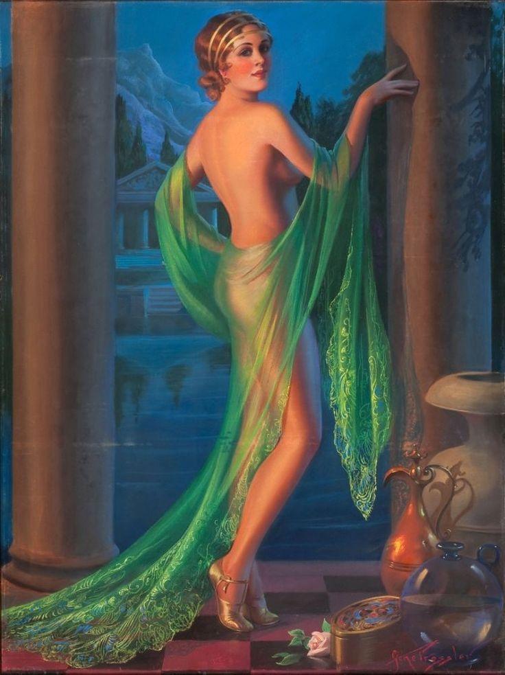 Harem Girl  (Nude PINUP):  Gene Pressler  :  circa 1923 :  Fine Art Giclee #Illustration