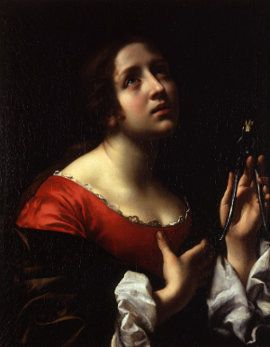 Carlo Dolci, Sant'Apollonia, 1670 ca. (magnificent use of the light from above)